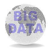 Big Data Globe Worldwide Computing 3d Illustration