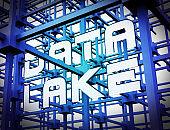 Data Lake Digital Datacenter Cloud 3d Rendering