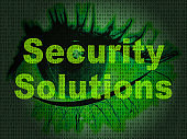 Cyber Security Solutions Threat Solved 2d Illustration