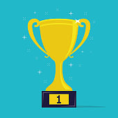 Trophy cup. Win