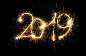 Sparkler New Year 2019