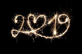 Sparkler New Year 2019 With Heart