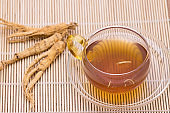 Ginseng tea and Dry Ginseng Roots