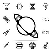 planet Saturn icon. Science icons universal set for web and mobile