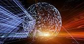 Digital Network concept