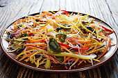 asian style vegetable low calories salad
