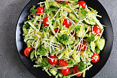 orzo salad with sprouts and veggies