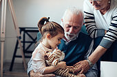 Comfort and care from her grandparents