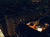 Open air cinema at the rooftop