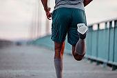 Running towards his goals