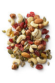 Nuts: Trail Mix Isolated on White Background