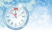 Christmas and New Year Clock