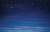 Vector night  sky.