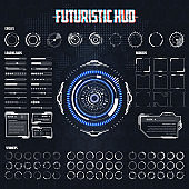 Futuristic Hud Elements Set