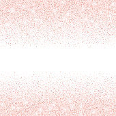 Vector falling in lines pink glitter confetti dots