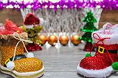 Background Christmas decoration.