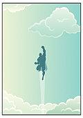 Superhero in Cloudscape
