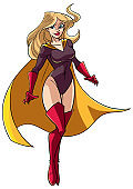 Superheroine Flying 5 Illustration