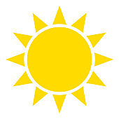 Sun or sunshine as a vector on a isolated background illustration