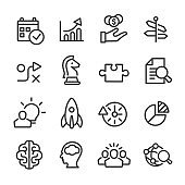Business Solution Icons Set - Line Series