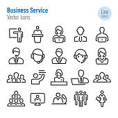 Business Service Icons - Vector Line Series