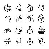 Christmas Icon Set - Line Series