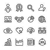 Internet Marketing Icon - Line Series