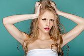 Beautiful  fashion  blond  woman