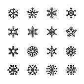 Snowflake Icons Set - Acme Series