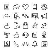 Communication Icons - Smart Line Series