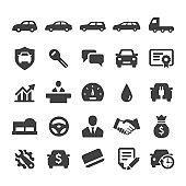 Auto Dealership Icons Set - Smart Series