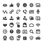 Social Media and Internet Icons Set - Big Series