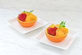 orange fruit decoration
