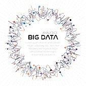 Big data analytics. Abstract background