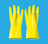 Yellow rubber gloves.