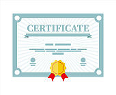 Certificate template. Diploma or accreditation