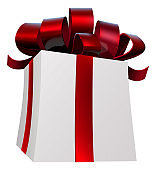 Gift Present Red Bow Ribbon