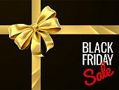 Black Friday Sale Gift Bow Ribbon Design