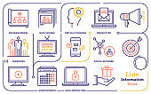 Information Business Vector Line Icon Set
