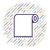 Pulp & Paper Industry Vector Line Icon Illustration