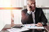 Successful middle age businessman
