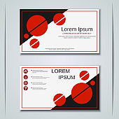 Business visiting card vector design template