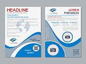 Modern professional business flyer vector template