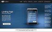 Website landing page vector design template