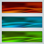 Abstract colorful web banners set
