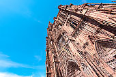 Amazing Facade of Cathedral Notre Dame of Strasbourg in France