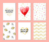Set of cards for Valentine's day