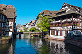 View of Petite France District in Strasbourg France
