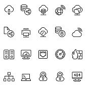 Network hosting icon set