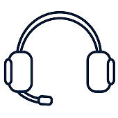 Thin Line Business Icon Headset